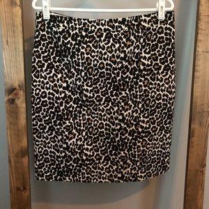 J. Crew | The Pencil Skirt Leopard Cheetah Print